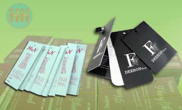 in thẻ bài, in thẻ bài giấy karaft, in nhãn mác quần áo